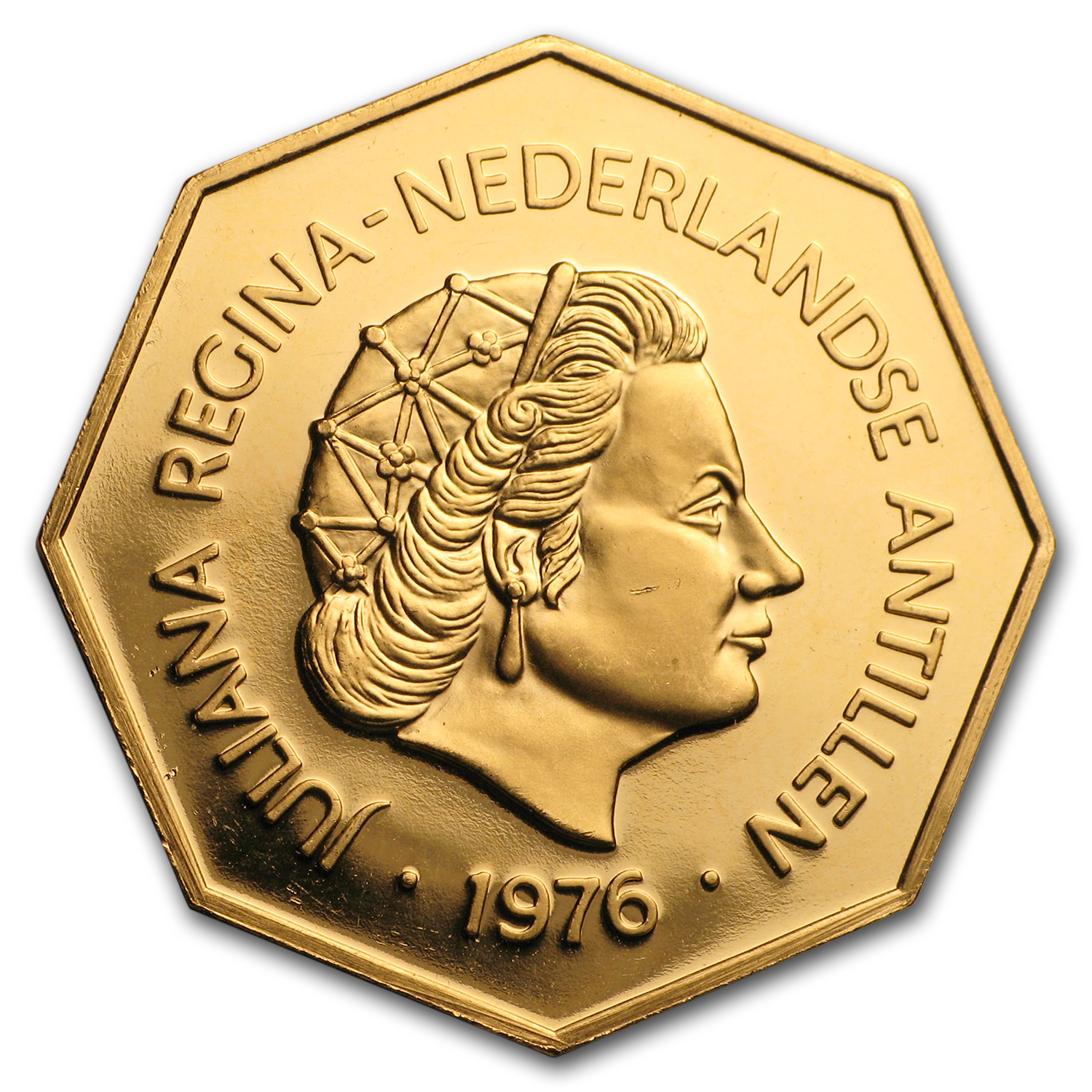 Netherlands Antilles 1976 Gold 200 Gulden BU/Proof